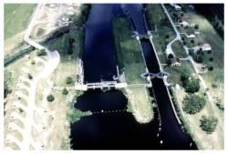 Lake Okeechobee Lock system on the cross florida waterway