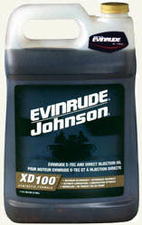 Evinrude XD100 outboard motor oil