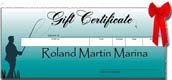 Bass fishing gift certificate - Great idea for a bass fishing present