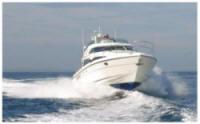 Yacht traveling to roland martin marina on the okeechobee waterway