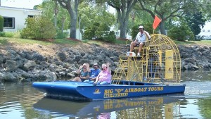 Airboat tours at Roland Martin Marina